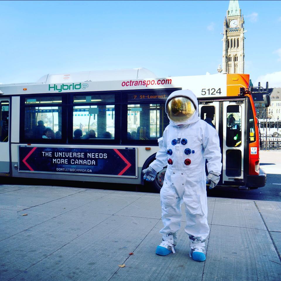 Neptune Blue Agency - DontLetGoCanada Street Team Astronaut