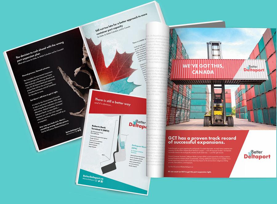 Neptune Blue Agency - BetterDeltaport Print examples